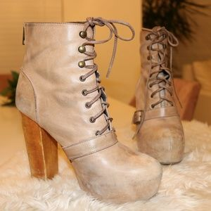 STEVE MADDEN 'Carnaby' Taupe Platform Ankle Boot 8